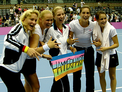 Andrea and the german Fed-Cup-Team